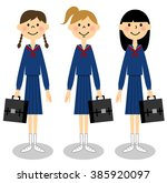 japanese junior high school... | Shutterstock . vector #385920097