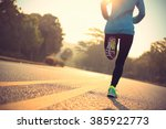 young fitness woman runner... | Shutterstock . vector #385922773