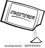 open artificial sweetener packet | Shutterstock .eps vector #385939393
