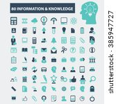information   knowledge icons  | Shutterstock .eps vector #385947727
