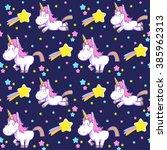 Cute Unicorn Seamless Pattern...