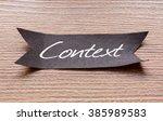 context word written on black... | Shutterstock . vector #385989583