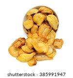 jackfruit chips vacuum fried... | Shutterstock . vector #385991947