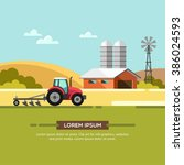 farming and agriculture... | Shutterstock .eps vector #386024593