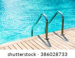 stair swimming pool in... | Shutterstock . vector #386028733