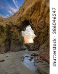 doorway to the sun. a colorful... | Shutterstock . vector #386046247