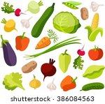 background vegetables  white ... | Shutterstock .eps vector #386084563