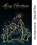 christmas religious background | Shutterstock .eps vector #38610706