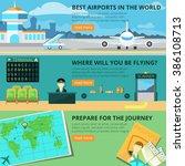 airport banner set | Shutterstock . vector #386108713