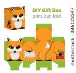 adorable do it yourself diy fox ... | Shutterstock . vector #386123347