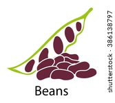 beans icon on white background. ... | Shutterstock .eps vector #386138797