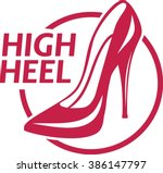 simple logo ladies classic high ... | Shutterstock .eps vector #386147797