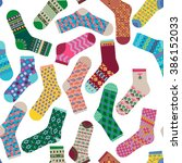 Various Multi Colored Socks....