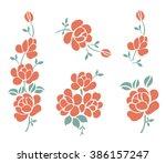 flower design elements vector... | Shutterstock .eps vector #386157247
