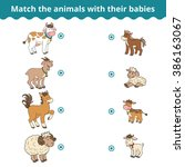 matching game for children ... | Shutterstock .eps vector #386163067