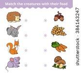 matching game for children ... | Shutterstock .eps vector #386163247