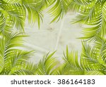 old paper background with palm... | Shutterstock . vector #386164183