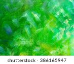 Abstract Green Paint Color...
