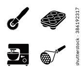 kitchenware vector icons | Shutterstock .eps vector #386192317