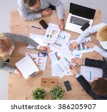 group of business people... | Shutterstock . vector #386205907
