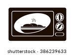 black and white logo microwave... | Shutterstock .eps vector #386239633