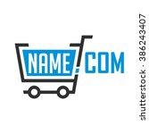 universal logo online store... | Shutterstock .eps vector #386243407