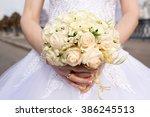 beautiful wedding bouquet in... | Shutterstock . vector #386245513