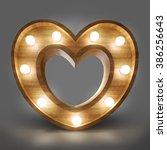 Wooden Heart Light Banner. Hig...
