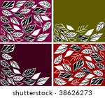 collection abstract autumn... | Shutterstock .eps vector #38626273