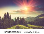 summer mountain landscape at... | Shutterstock . vector #386276113