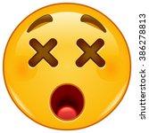 dizzy emoticon | Shutterstock .eps vector #386278813