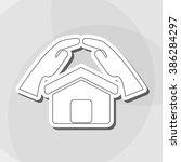 insurance icon design  | Shutterstock .eps vector #386284297