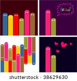 collection funny cards with... | Shutterstock .eps vector #38629630