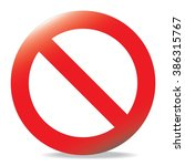 warning and stop sign . vector | Shutterstock .eps vector #386315767