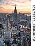 new york city skyline aerial... | Shutterstock . vector #386317603