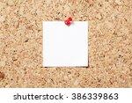 Sticky Note On Cork Board