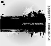 black grunge banner with an... | Shutterstock .eps vector #38635099