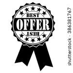 best offer icon on white ... | Shutterstock .eps vector #386381767