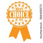best choice icon on white ... | Shutterstock .eps vector #386400073