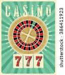 casino vintage grunge style...   Shutterstock .eps vector #386411923