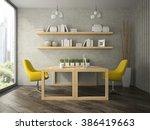 interior of modern  design...   Shutterstock . vector #386419663