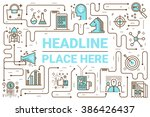 marketing line icons... | Shutterstock .eps vector #386426437
