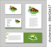 set of vector posters and... | Shutterstock .eps vector #386426617