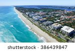 aerial view of palm beach  ... | Shutterstock . vector #386439847