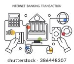 internet banking transaction in ... | Shutterstock .eps vector #386448307