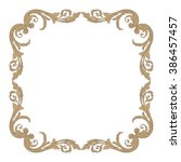 vintage baroque frame scroll... | Shutterstock .eps vector #386457457