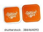 special offer stickers | Shutterstock .eps vector #386464093