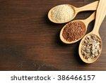 sesame  flax and sunflower... | Shutterstock . vector #386466157