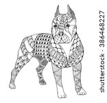 Pit Bull Terrier Zentangle...
