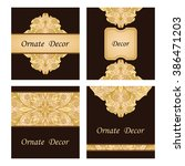 vector decorative frame.... | Shutterstock .eps vector #386471203
